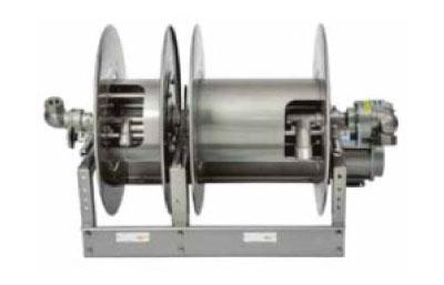 02 Power Rewind Liquid Reel with Manual Rewind Vapor Reel